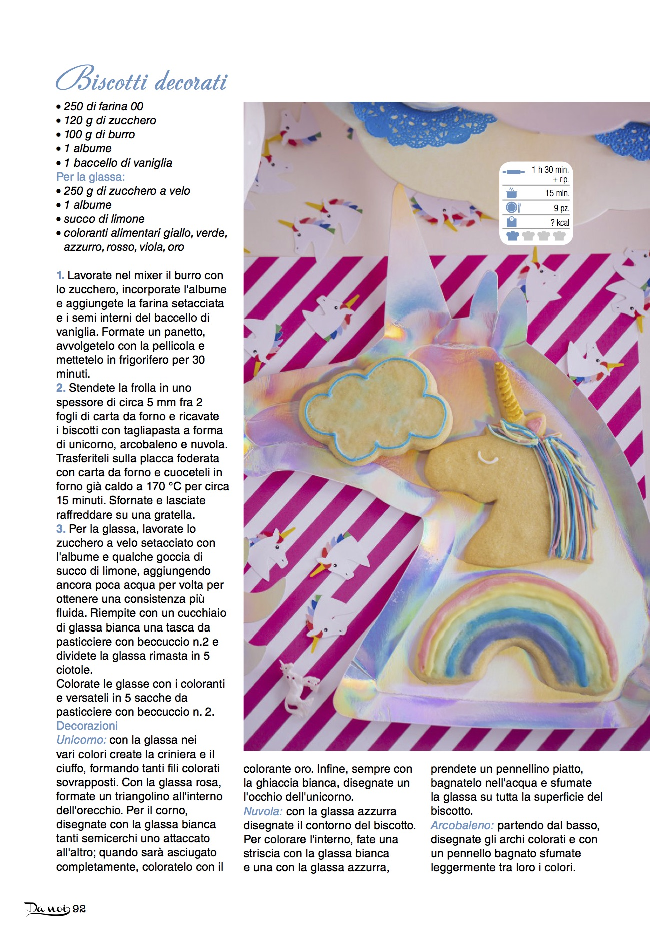 Baking Accs. & Cake Decorating Unicorno E Arcobaleno In Zucchero And To Have A Long Life.