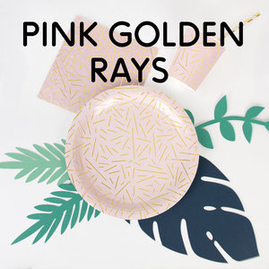 Pink golden rays