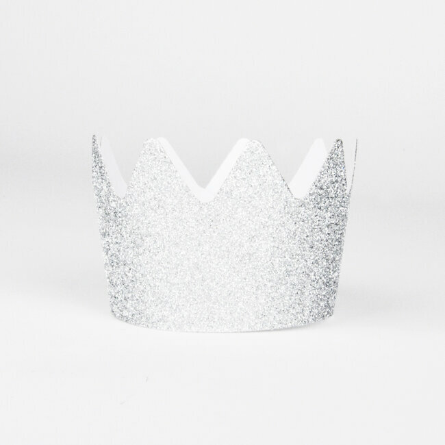 glitter crowns - silver