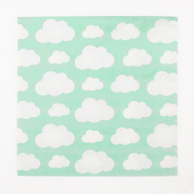 paper napkins - clouds
