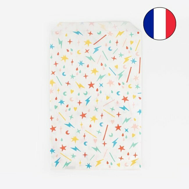 paper bags - multicolour dots