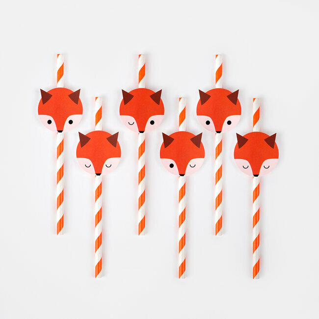 paper straws - mini fox