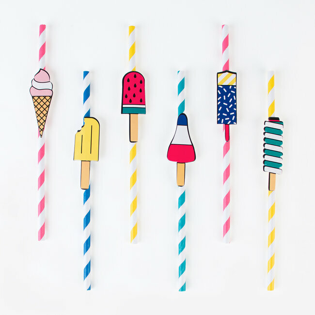 paper straws - ice cream