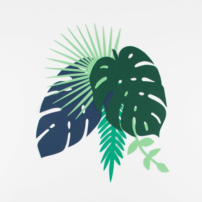 Paper decorations - Tropical leaves