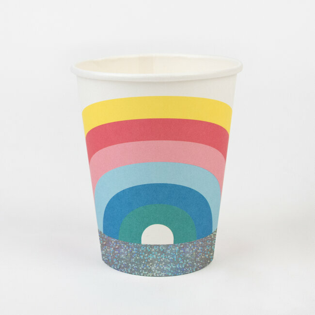 paper cups - rainbow