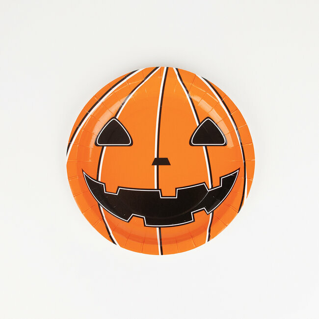 paper plates - mini pumpkin