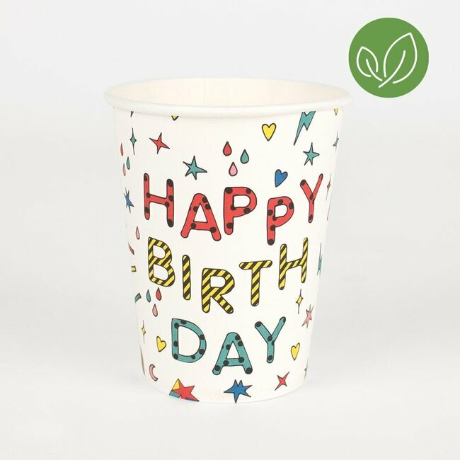 paper cups - happy birthday