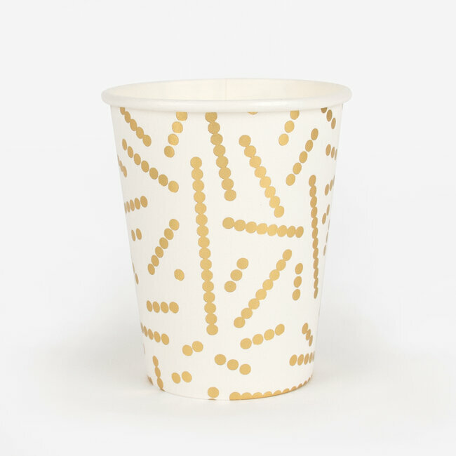paper cups - foil golden pearls