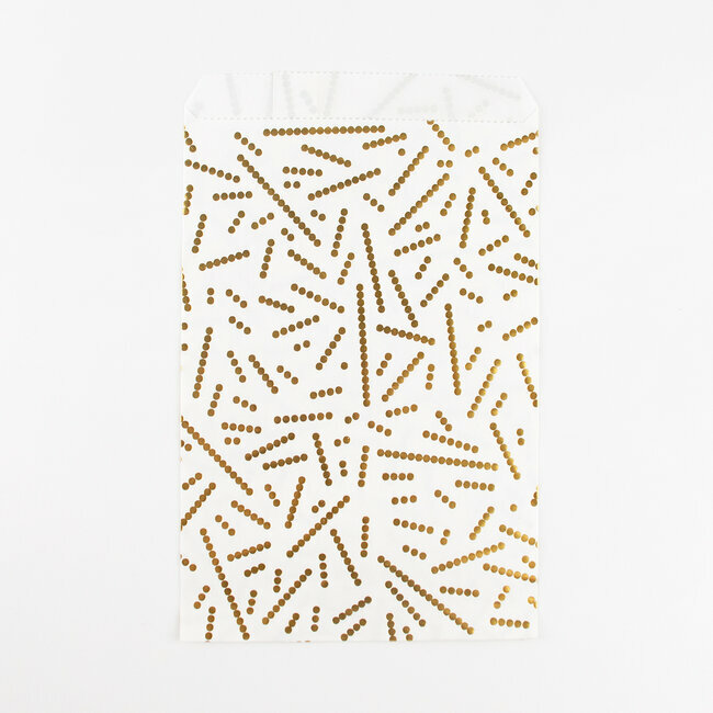 paper bags - foil golden pearls