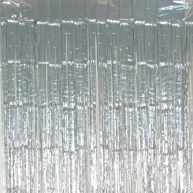 6 lots of 1 foil curtain - silver