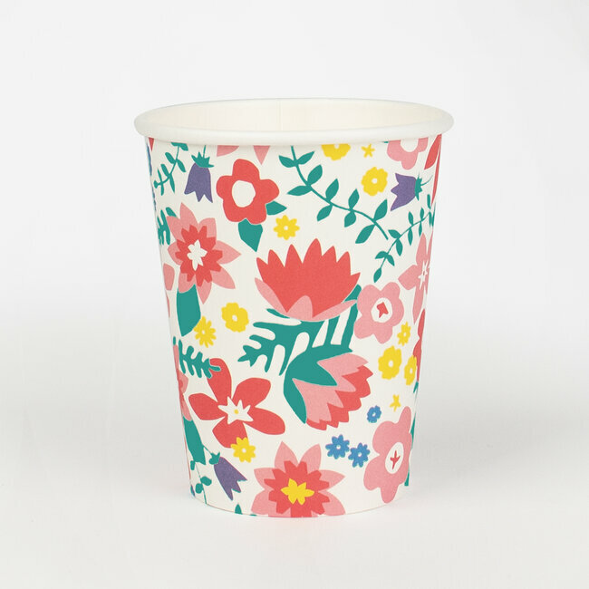 paper cups - flowers