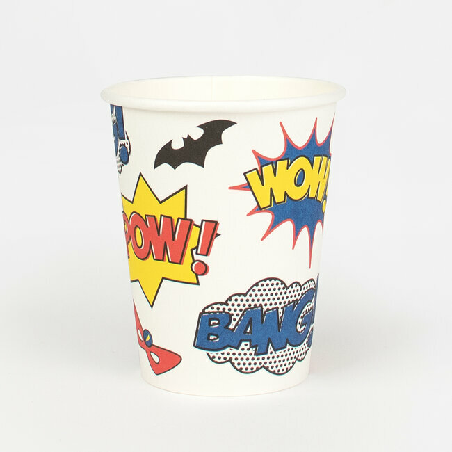 paper cups - super heroes