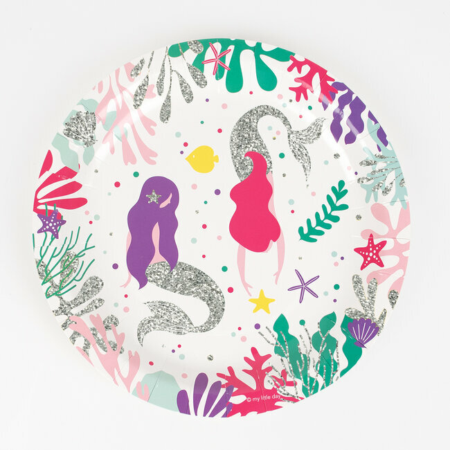 paper plates - mermaid